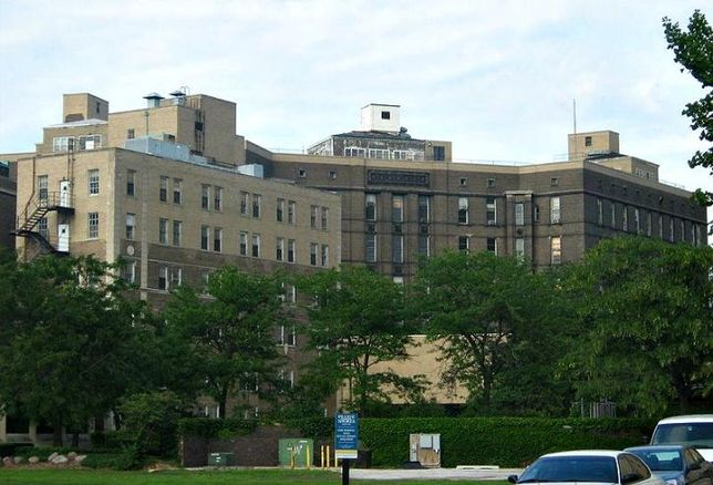 Michael Reese Hospital, Chicago, before its 2009 demolition.