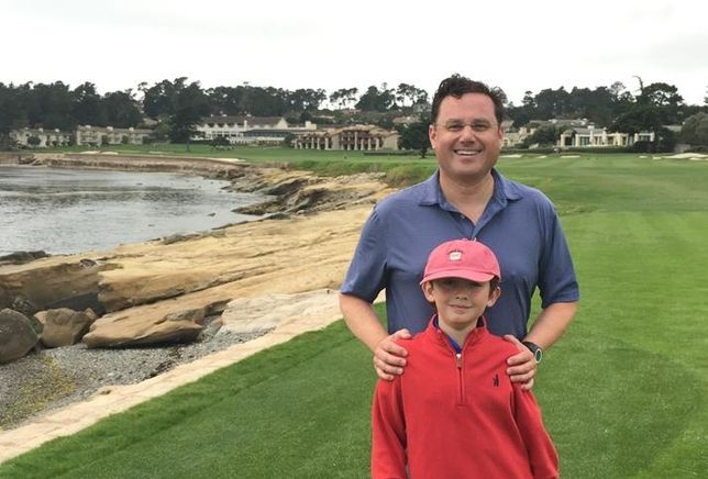 Bret Quinlan and son