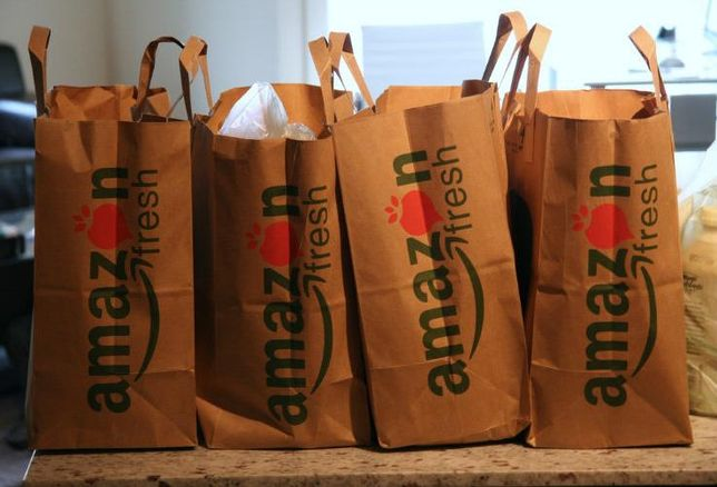 Amazon groceries, bag