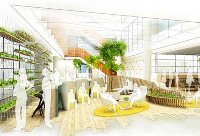 CGI of Yoox Net-A-Porter's new Tech Hub at White City