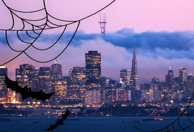 San Francisco Skyline Halloween
