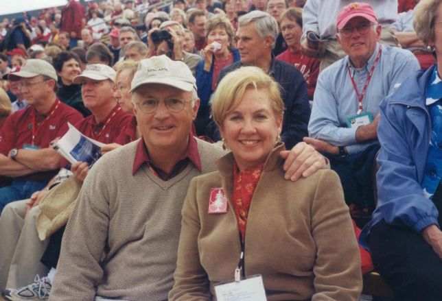 Bob and Beth Lowe at Stanford Game