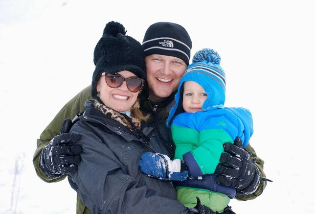 Greystar Director of development JR Thulin with wife and son