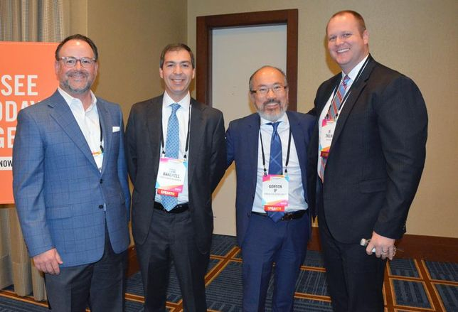 Jordan Foster Construction managing director JJ Williams, StreetLights president of development Tom Bakewell, Genesis Real Estate Group president and CEO Gordon Ip and Greystar director of development JR Thulin