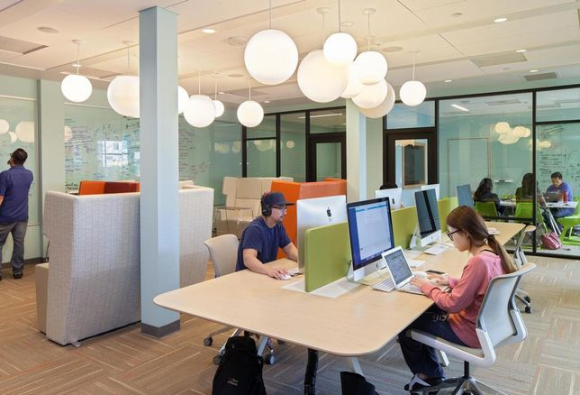 A variety of study spaces are finding their way into amenity packages at the newest student housing developments. Currie Hall, University of Southern California in Los Angeles, opened Fall 2016.