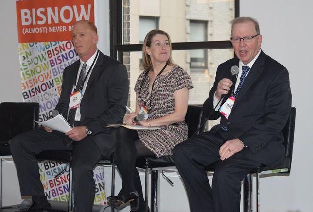 Berdon partner Seth Molod, Savills Studley Chief Economist Heidi Learner and Cushman & Wakefield Chief Economist Ken McCarthy