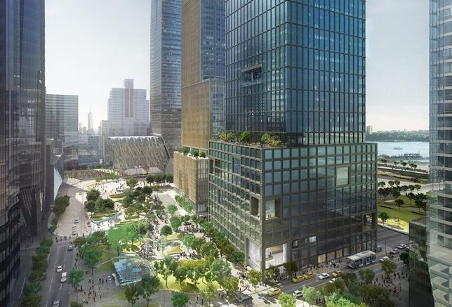Rendering of 55 Hudson Yards, a supertall office building on Manhattan's Far West Side
