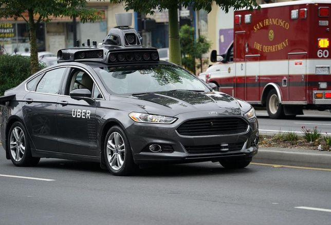 Uber self driving car in San Francisco