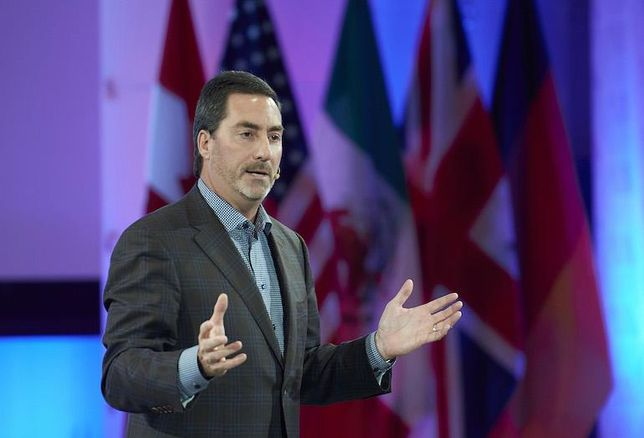 Avison Young CEO Mark Rose at the company's 2016 AGM in Toronto