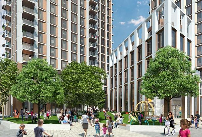 CGI of Meadow Residential's Docklands plan