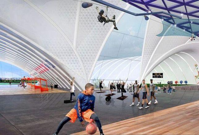 RFK sports complex interior rendering