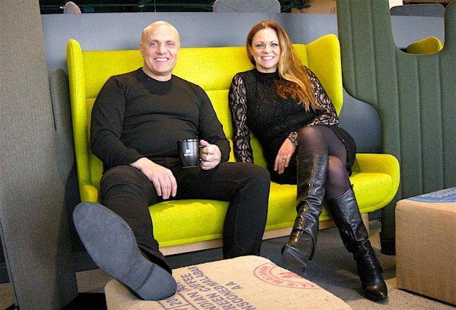 Aviva digital and software engineering VP Danny Galic with the digital garage designer Suzanne Bettencourt, of figure3.