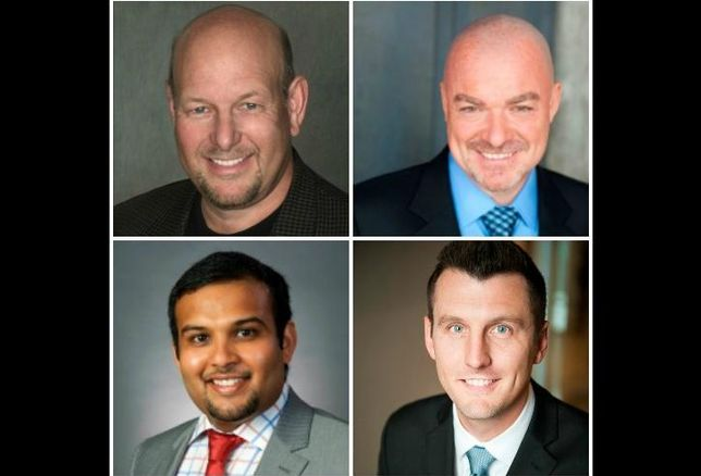 Clockwise from top left: Neil Freeman, Sean Conlon, Tom Reckley and Rushi Shah of Conlon Capital