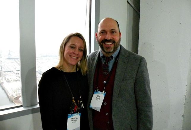Nelson Design Director Theresa Williams and HOK global director of interiors Tom Polucci