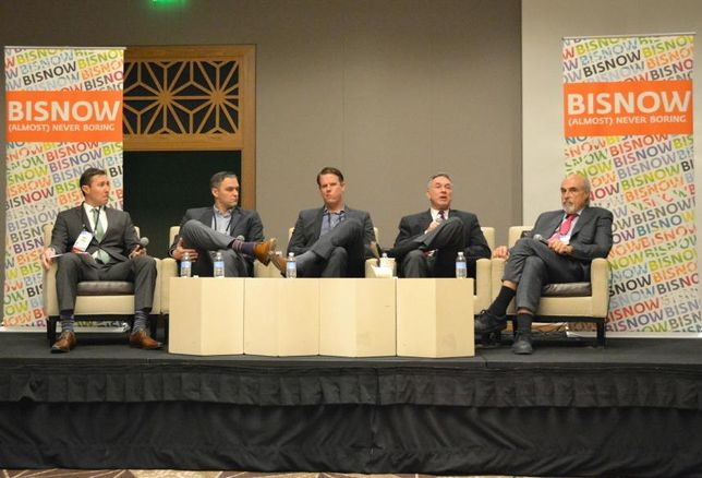 Weitzman SVP Matt Epple, Endeavor vice president of leasing Adam Zimel, Edge Realty vice president Cole Brodhead, Lincoln Property Co senior vice president Wes Babb, Whitestone REIT chairman and CEO Jim Mastandrea