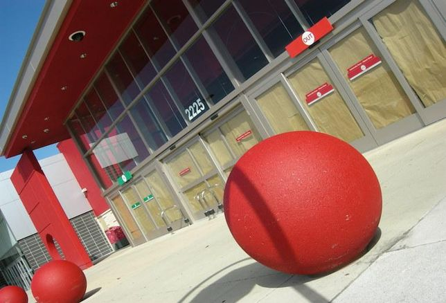 A shuttered Target location in Toronto