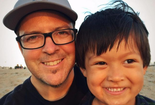 Brett Drogmund and son, Asher
