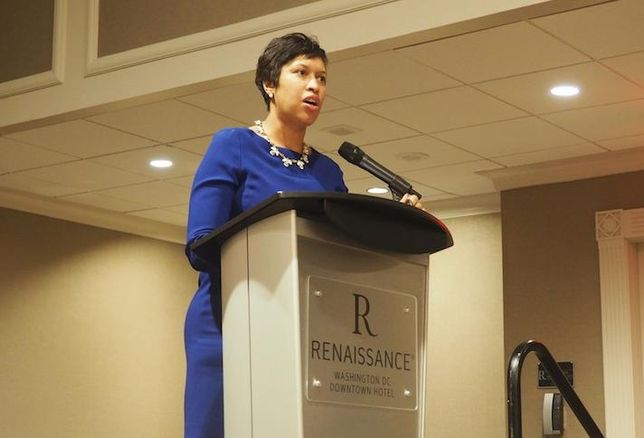 Mayor Muriel Bowser affordable housing event