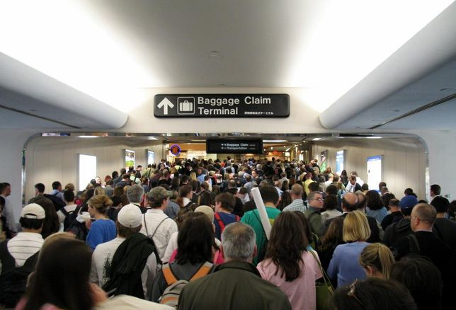 Passengers At Undisclosed Airport