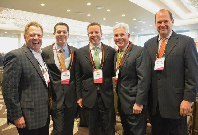 Dan Spika, Duke Realty senior vice president Jeff Thornton, Hillwood Properties senior vice president Tony Creme, Rick Medinis, Michael Stanzel