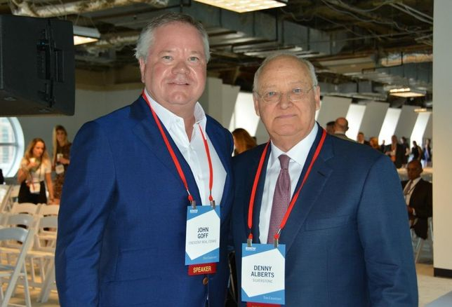 Crescent chairman John Goff and Silverstone chairman and CEO Denny Alberts