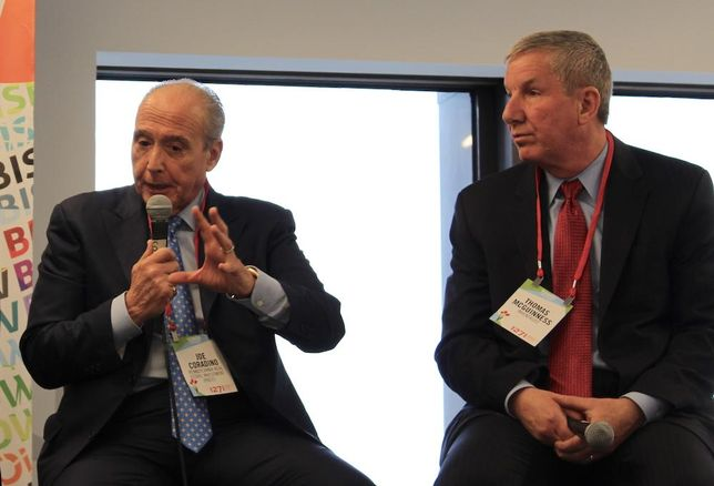 PREIT CEO Joe Coradino and InvenTrust Properties Corp. CEO Thomas McGuinness at Bisnow National Retail Series East Coast, April 4, 2017