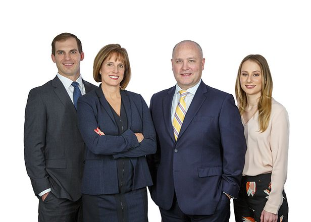 Schierberl Team: Senior Associate Gregory Kosh, Team Lead and executive vice president Michelle Schierberl, her partner senior vice president Donald Ellis and administrative assistant Dayna Neville.