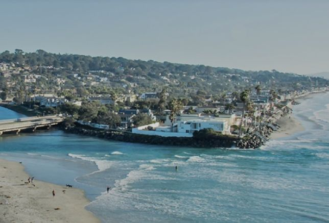 Del Mar, San Diego County's smallest city with just 4,300 permanent residents, has a tourist economy promoted by its pristine beaches and quaint downtown village atmosphere.
