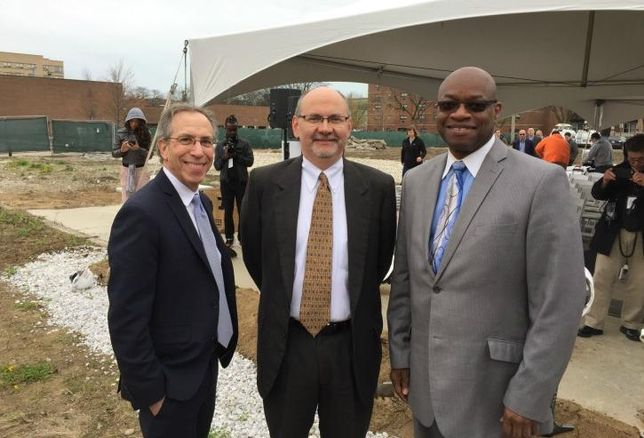Preservation of Affordable Housing president and CEO Aaron Gornstein, POAH Chicago region vice president Bill Eager and Ald. Willie Cochran (20th).