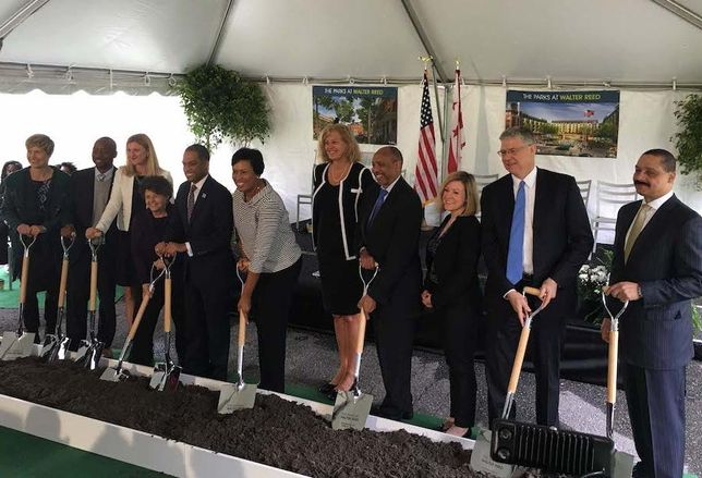 Parks at Walter Reed groundbreaking