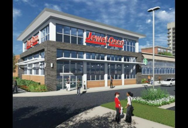 A rendering of a Jewel-Osco to be built at 61st Street and Cottage Grove Ave. in Woodlawn.
