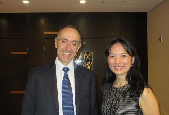 IHG CEO, The Americas Elie Maalouf and moderator, Team Leader Lockton Insurance China, US Business Claudia Margolis.