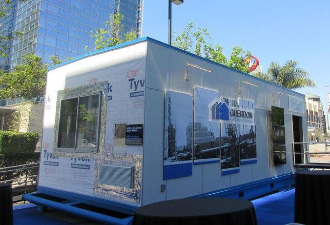 Modular unit on display in LA.