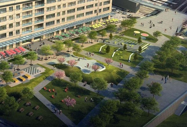 Rendering of Newark's Mulberry Commons