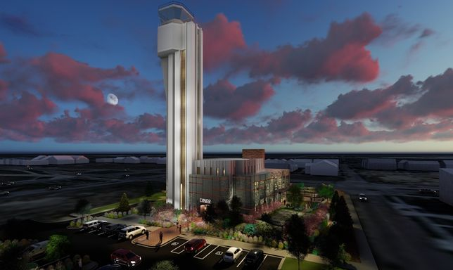 Former Airport Control Tower Soon To Be A Punch Bowl Social Experiential Restaurant