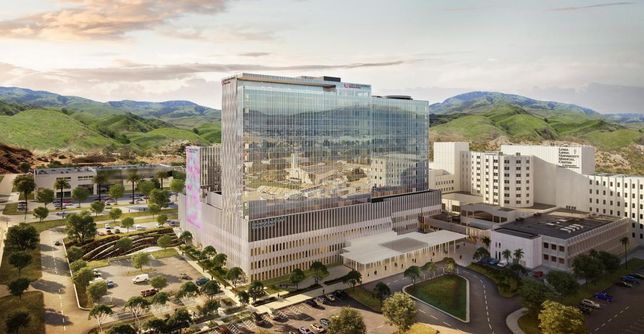 Rendering of Loma Linda's new hospital.