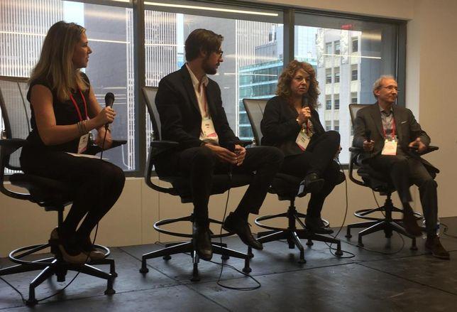 Sebastian Capital's Roxana Girand, former Etsy real facilities head Josh Wise, Buzzfeed's Julia Goldberg and MKDA's Michael Kleinberg