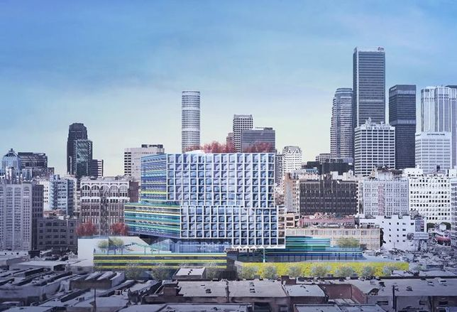 Rendering of Southern California Flower Mart Redevelopment Project