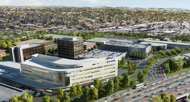 Rendering of Providence Tarzana Medical Center Northeast view
