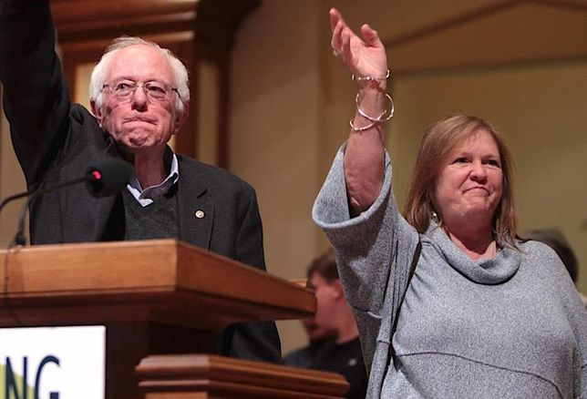 Sen. Bernie Sanders and his wife, Jane O'Meara Sanders.