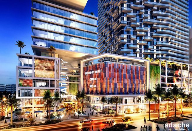 FATcity is a planned development in downtown Fort Lauderdale, with two 30-story towers and retail (rendered here).