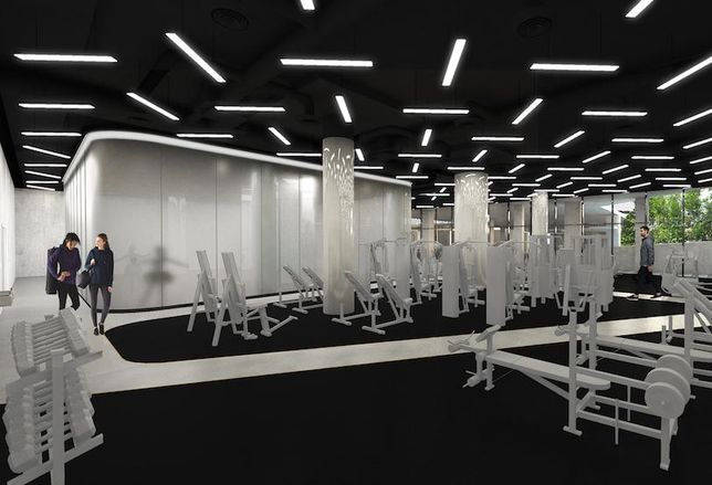 Midtown Center gym rendering