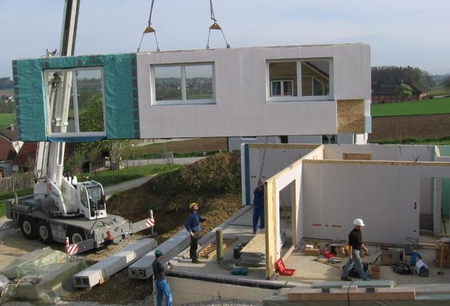 Prefabricated house construction