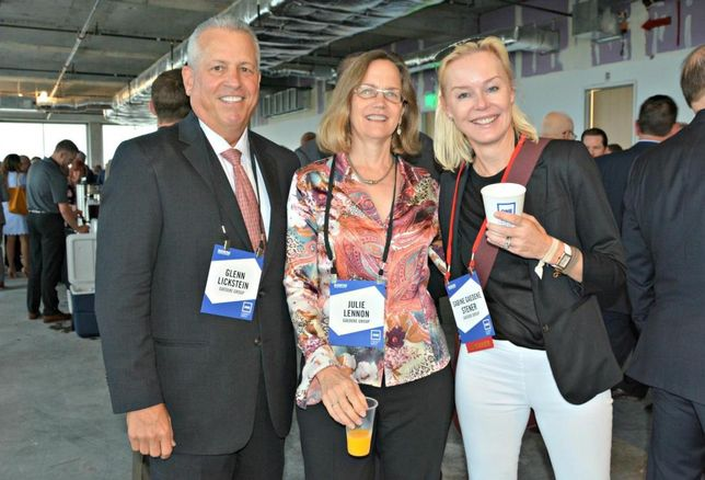 Gaedeke Group's Glenn Lickstein, Julie Lennon and Sabine Gaedeke Stener
