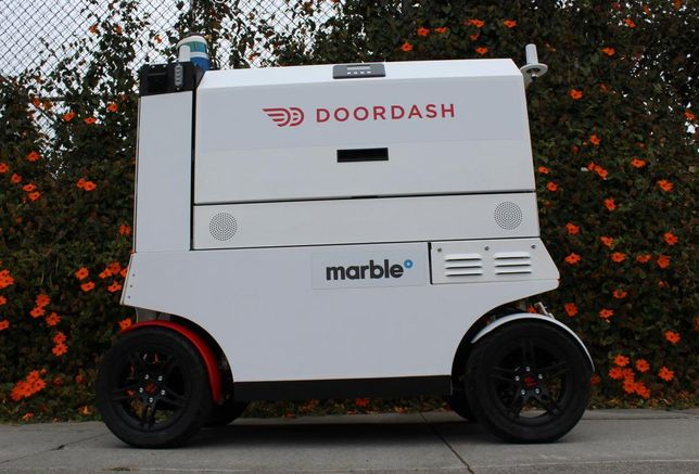 DoorDash food delivery robot, robots, delivery