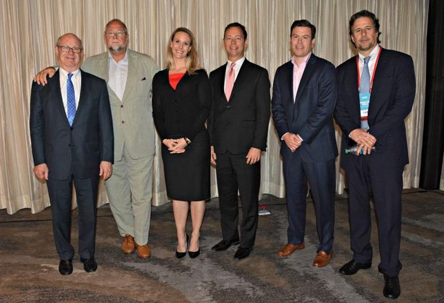 Cityplace Co.'s Neal Sleeper, Gatehouse Capital's Marty Collins, Partner Engineering and Science Inc.'s Katrine Hansen, Mill Creek Residential Trust's Rick Perdue, Stoneleigh Cos.' Ryan Swingruber, De La Vega Development's Artemio De La Vega