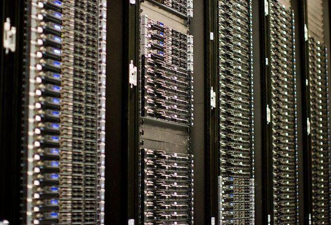 A data center server bank