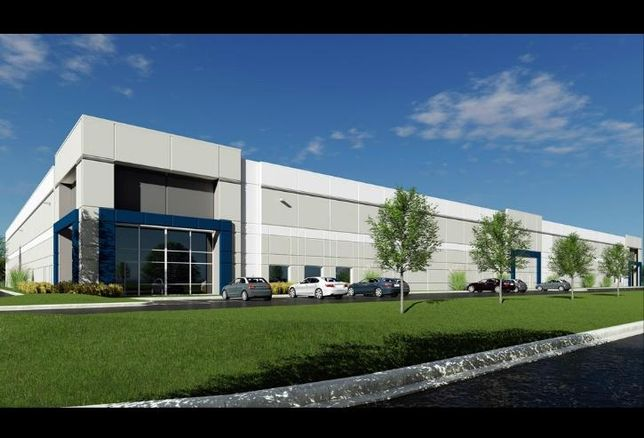 A rendering of a spec industrial building being developed by The Missner Group and Sitex in Wheeling, Ill.