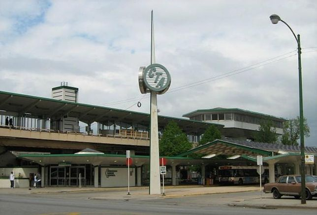 The Ashland/63rd Green Line 'L' station