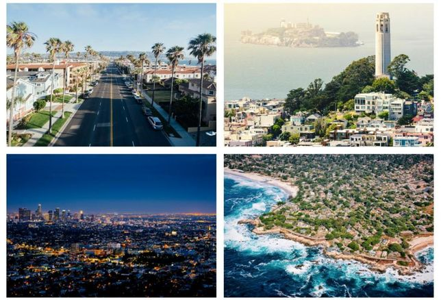 Redondo Beach, San Francisco, LA, Carmel by the Sea